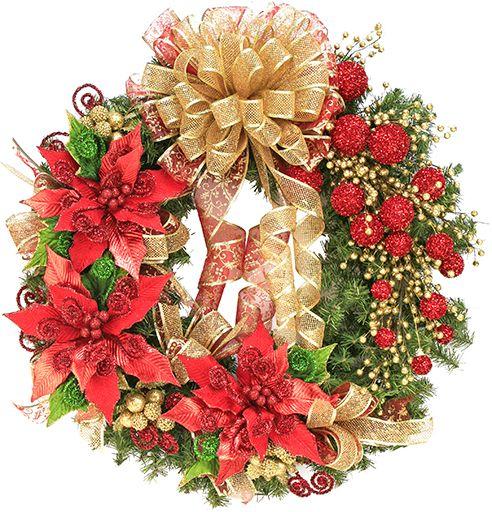 Corona nochebuena navidad 2014 adorno decoraci n - Adornos navidenos 2014 ...