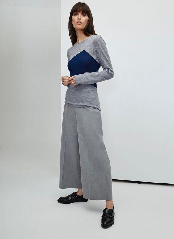 Sweater with Geometric Design - AD Woman   Adolfo Dominguez shop online
