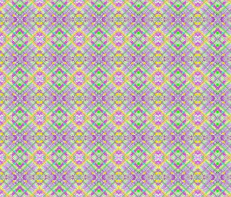 Pastel Lavender and Green  Plaid  on the Diagonal with maroon, pink and yellow accents fabric by maryyx on Spoonflower - custom fabric