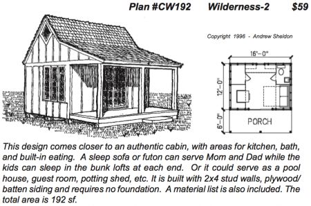 Sheldon designs wilderness cabin cabin house plans for Wilderness cabin plans