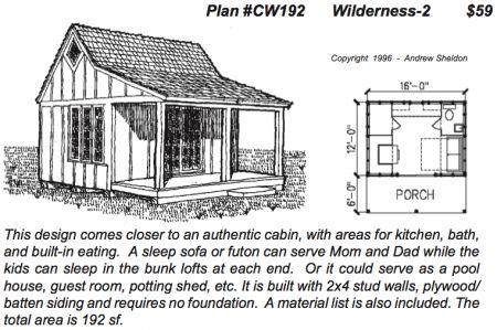 Sheldon designs wilderness cabin cabin house plans for Wilderness cabin plans