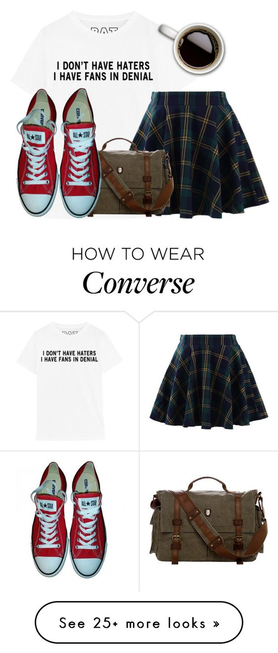 """""""Here"""" by clothesforfuture on Polyvore featuring Chicwish and Converse"""