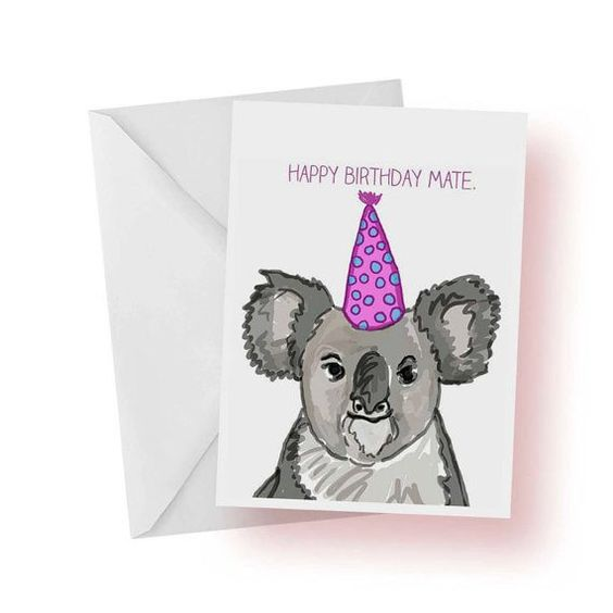 Birthday Card Happy Birthday Mate Cute Koala Birthday Image – Birthday Card Australia