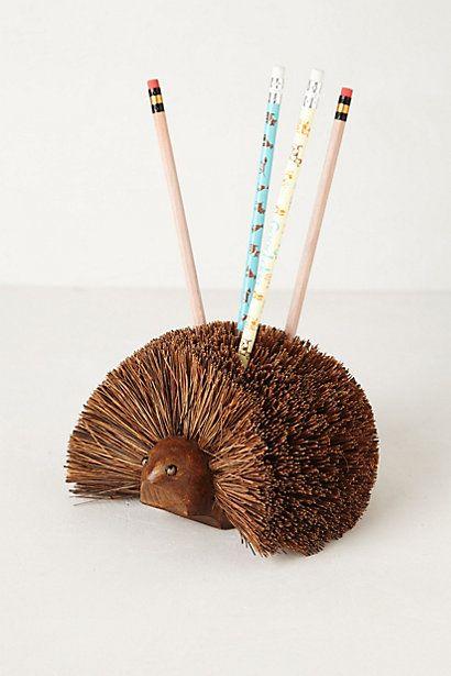 Hedgehog Pencil Holder #anthropologie: