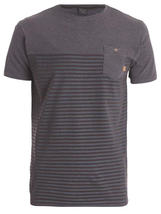 Shop2gether - Camiseta Masculina Huntington - Oakley - Preto