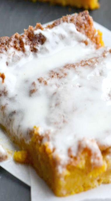 Pumpkin cinnamon roll sheet cake | Recipe | Pumpkins ...