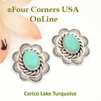 Four Corners USA Online - Carico Lake Turquoise Sterling Concho Earrings Darlene Platero No 4 Native American Silver Jewelry, $55.00 (http://stores.fourcornersusaonline.com/carico-lake-turquoise-sterling-concho-earrings-darlene-platero-no-4-native-american-silver-jewelry/)