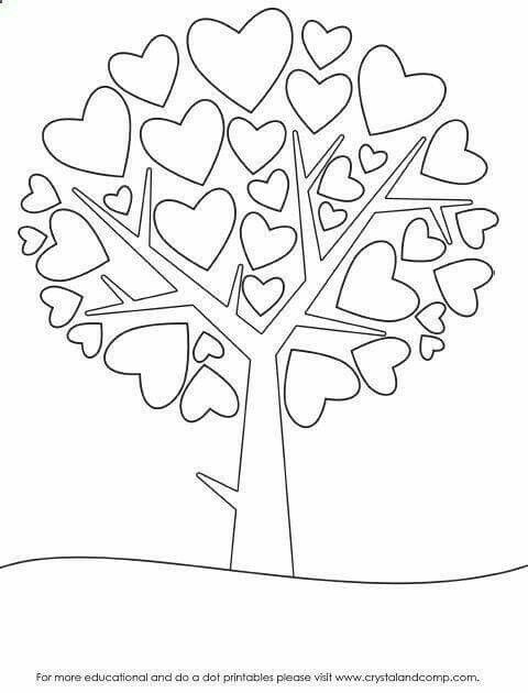 Pin by Ian Clarke on xmas  Heart coloring pages, Preschool