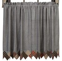 """If your looking for privacy our Beacon Hill Sawtooth Lined Tier Curtains 36""""might be an option for you.  These charming tiers coordinate well with our Beacon Hill Quilted Bedding Collection.  http://www.primitivestarquiltshop.com/Beacon-Hill-Sawtooth-Lined-Tier-Curtains-36_p_9640.html"""