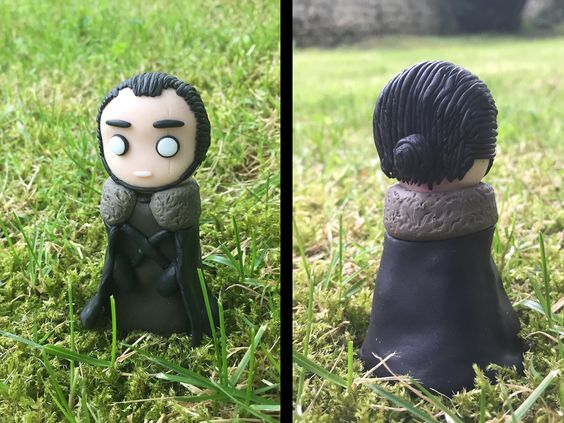 Jon Snow figurine / statue from Game of thrones, made out of polymer clay. www.etsy.com/shop/valyriancraft