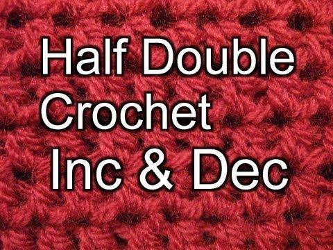 Crochet Stitch Hdc Decrease : ... half double crochet double crochet beginner crochet crochet stitches