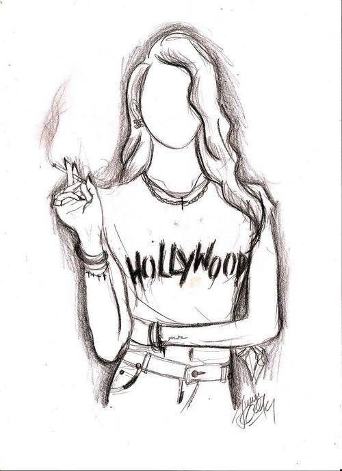 Hipster girl drawings tumblr google search libros for Cool creative things