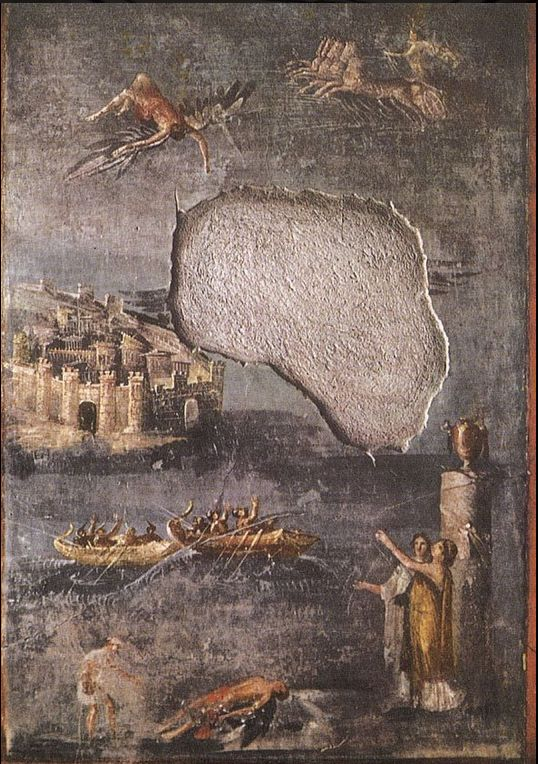 he Fall of Icarus. Fresco from Pompeii (the House of the Priest Amandus, I.7.7). 40—79 A… http://twitter.com/HistoryTime_/status/680802943071817728 …