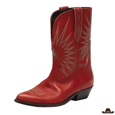 Bottes Western Rouges | Bottes cowboy, Bottes western, Bottes