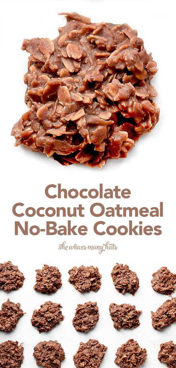 Coconut oatmeal, Oatmeal no bake cookies and No bake cookies on ...
