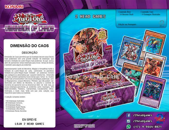 Yu-Gi-Oh! Coleção Box Booster Dimensão do Caos Panfleto Loja 2 Head Games
