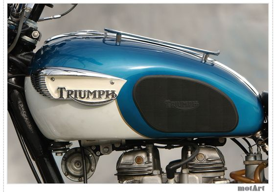 Triumph~~It looks like an older version of mine!  The brits love the two colors on the tank?! *grin