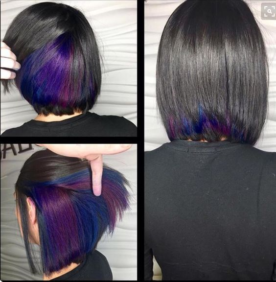 82 Unique Hair Color Ideas For Winter And Spring Koees Blog Hair Styles Peekaboo Hair Short Hair Styles
