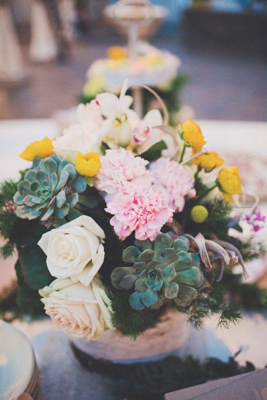 roses, succulents making such a good combination to present the Hochzeitswahn - Sei Inspieriert 2013 book