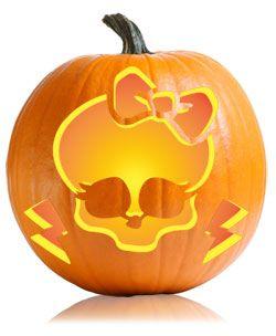 Monster high monsters and skull pumpkin on pinterest for Monster pumpkin carving patterns