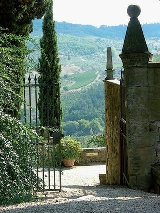 Tuscan gate, Italy