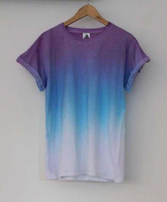 Purple Blue Horizon Dip Dye Tee | ANDCLOTHING