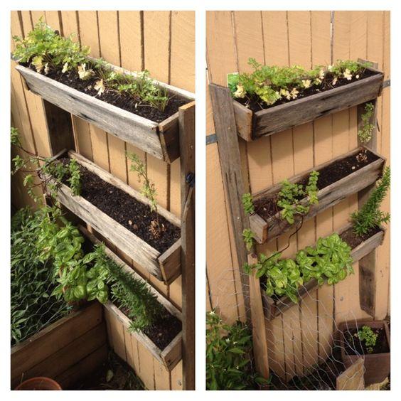 Herb Garden On Fence