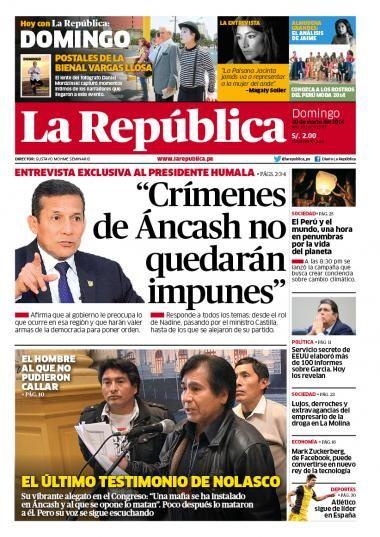 La República Lima 30-03-14