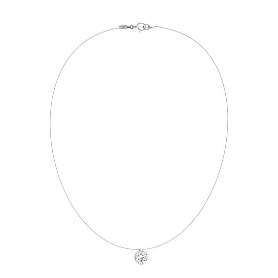 Collier agatha fil transparent