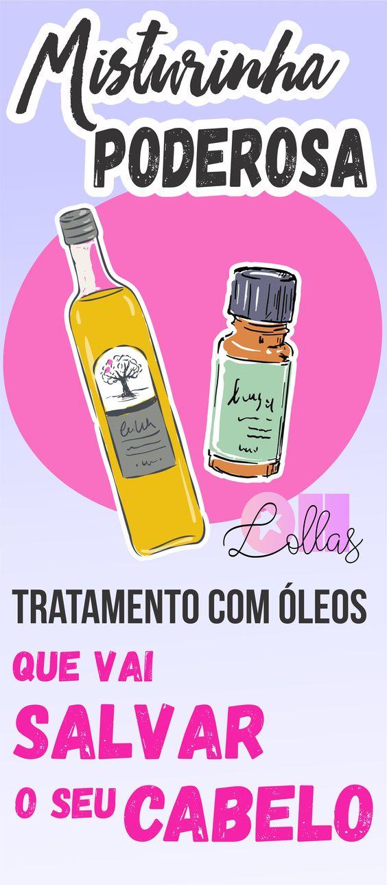 Umectação capilar: Mistura de óleos que vai salvar seu cabelo. Ajuda contra  a queda de cabelo e auxilia no crescimento saudável do cabelo.