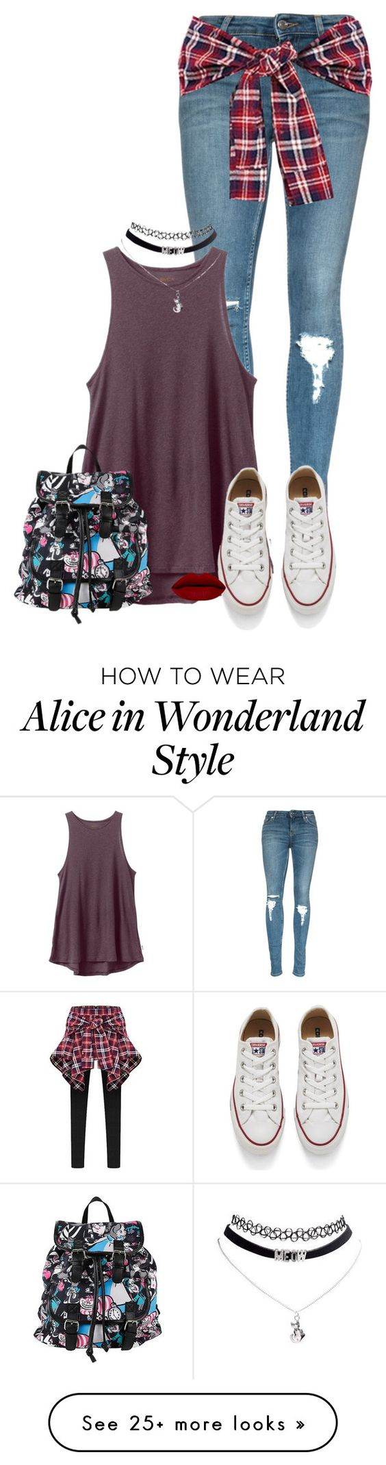 """What I Would like my sim to wear #1"" by fanfic123fanatic on Polyvore featuring RVCA, Converse, Disney, women's clothing, women, female, woman, misses and juniors"