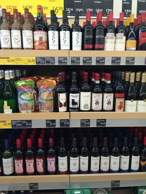 Wine Bottles. Inexpensive prices for wine and spirits at ALDI grocery stores. #ad