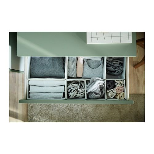 MALM Chest of 3 drawers - light green - IKEA