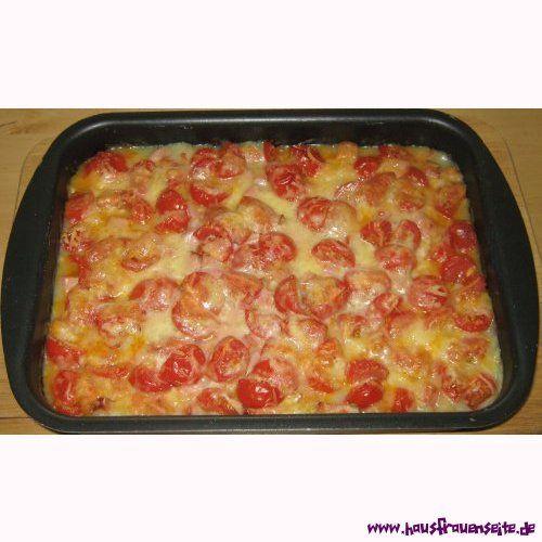 Kartoffelpü-Auflauf mit Leberkäse - Rezept  der Kartoffelpü-Auflauf mit Leberkäse schmeckt der ganzen Familie glutenfrei