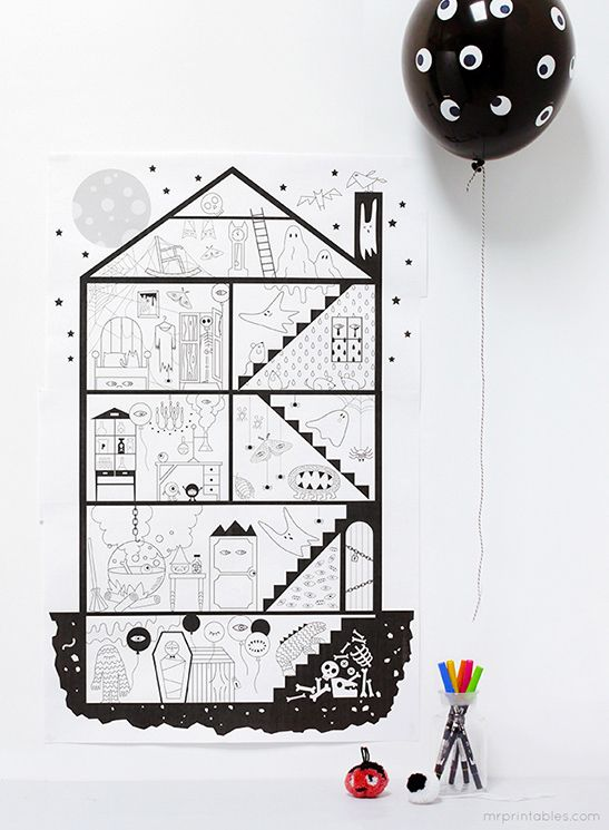 Halloween Coloring Pages - Mr Printables