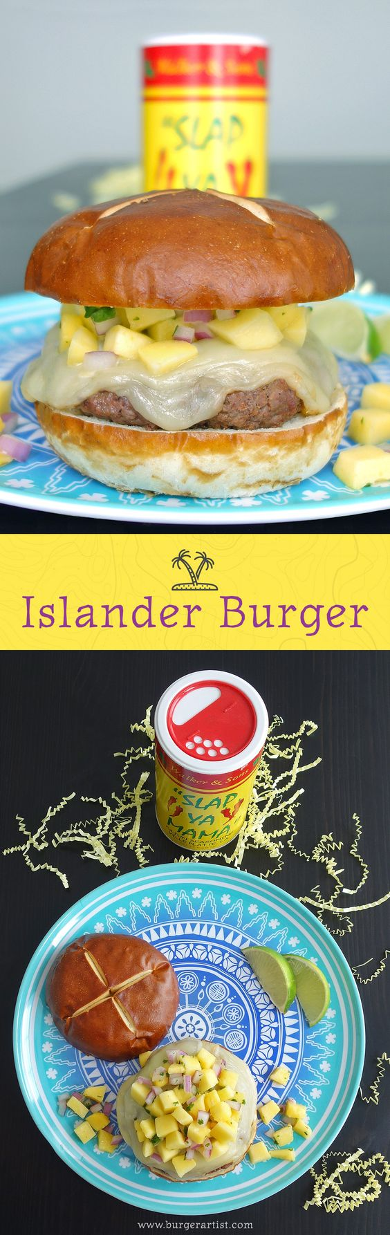 The Islander Burger is an awesome flavor combination of sweet mango salsa and spicy cajun seasoning. Get out there, get grilling, and get tropical!