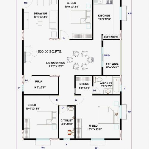 South Facing Home Plans Best Of 10 Inspirational 10 X 40 House Plan South Facing House Building Plans House House Plans