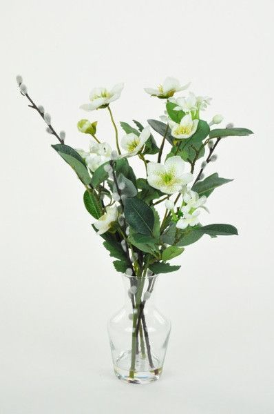 Artificial Hellebore Mix in Vase, from The Secret Garden of Sussex, £25.00, Christmas Festive