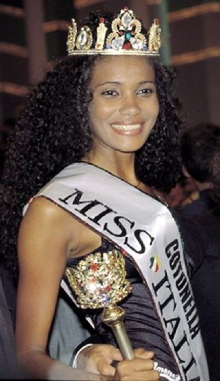 Denny Mendez was the first Afro Queen to win the Miss Italy Pageant in 1996.
