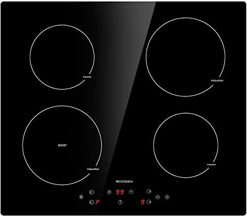 Best Seller Induction Cooktop 4 Burner Ecotouch Electric Cooktop Built In Induction Cooker 24 Inch Induction Stove Top Smoothtop Vitro Ceramic Surface Booster In 2020 Induction Stove Induction Cooktop Electric Cooktop