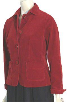 Talbots Red Corduroy Jacket