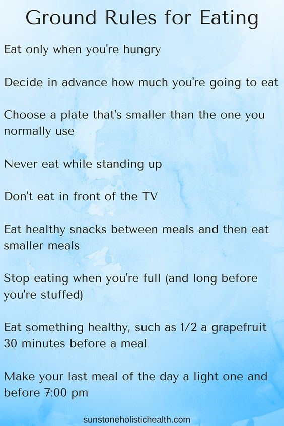 Ground Rules for Eating.