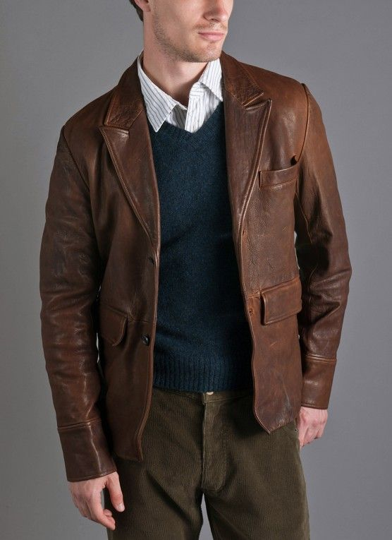 Sick ass leather blazer Billy Reid