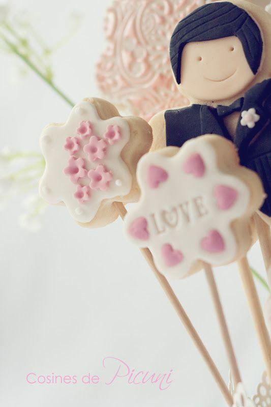 Maceta de galletas para una boda