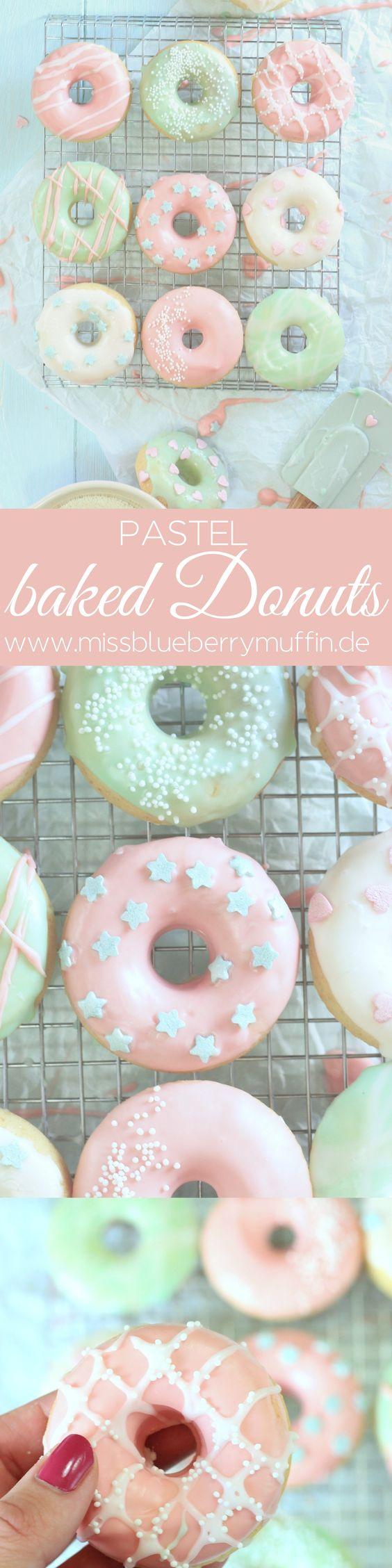 Gebackene mini Donuts mit Guss in Pastellfarben! // mini baked Donuts <3