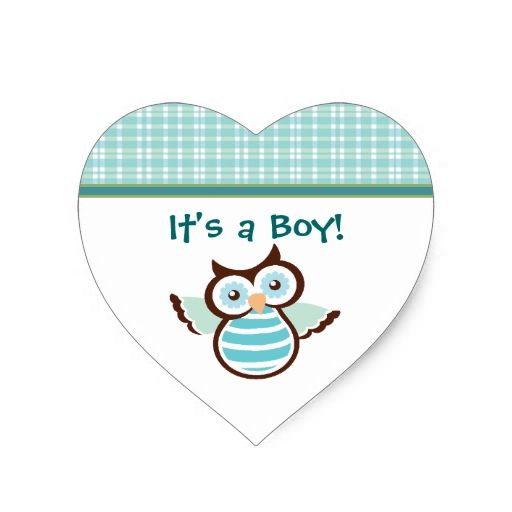 Blue Owl Baby Stickers