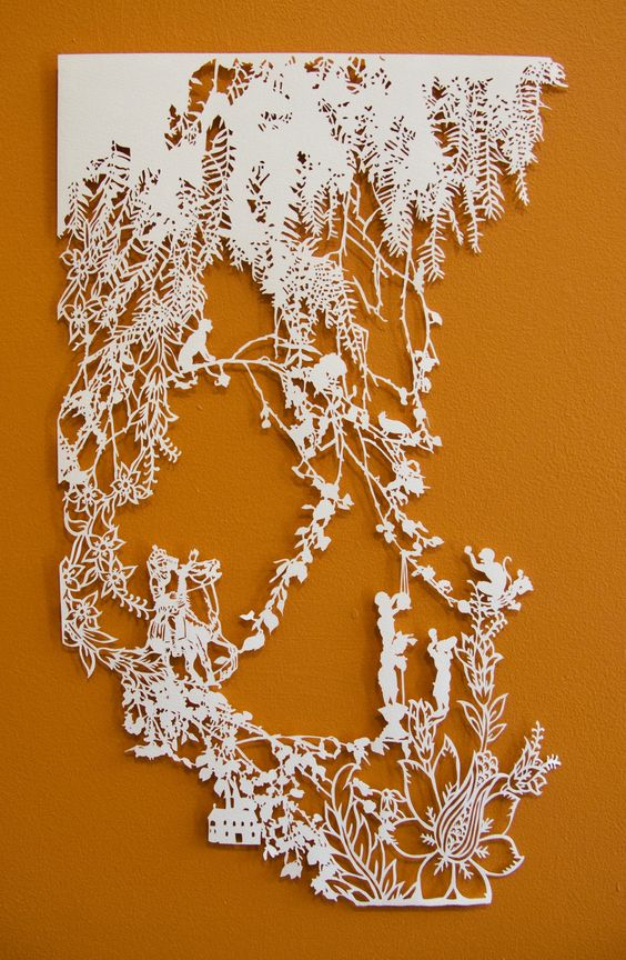 Paper cut by emma van leest paper things pinterest for Beautiful paper cutting art