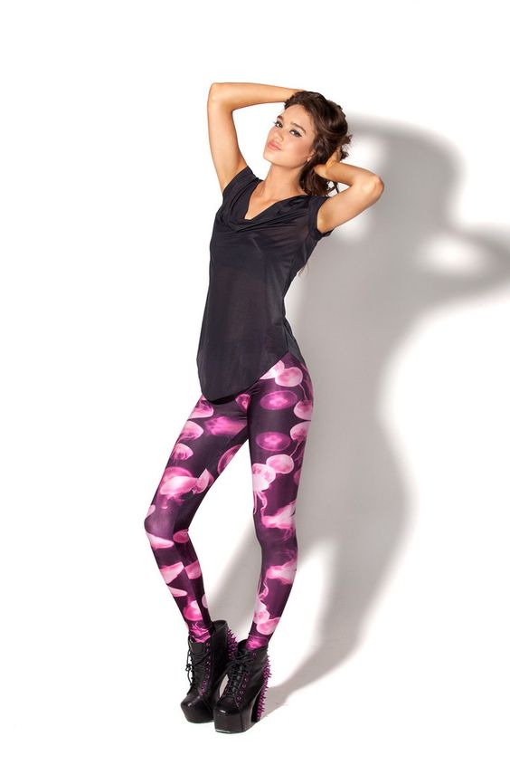 Black Milk Clothing Jellyfish Pink Leggings L BNWT