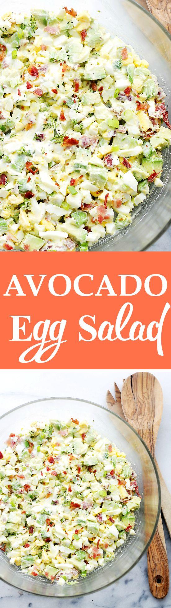 Avocado Egg Salad Recipe Avocado Egg Salad Avocado Egg And Egg Salad