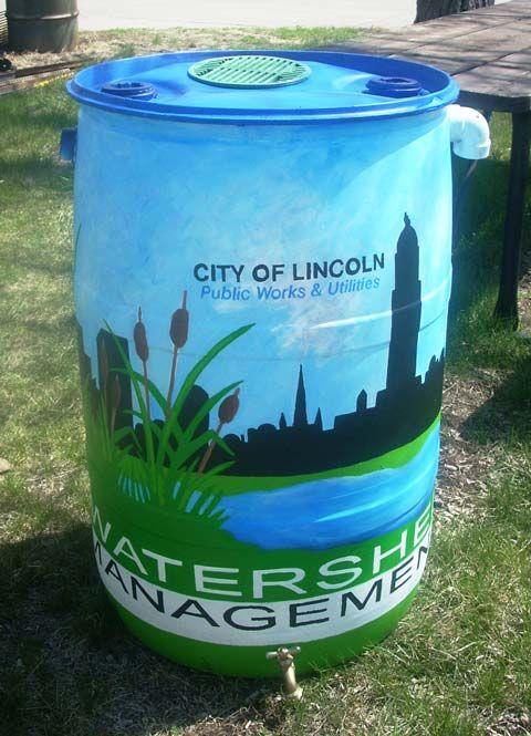 Pretty City Rain Barrel